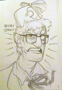 fanart of neverhuman au grunkle stan for ko-fi reward